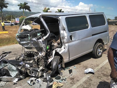 TWO DEAD IN CAR ACCIDENT IN ST. ANN